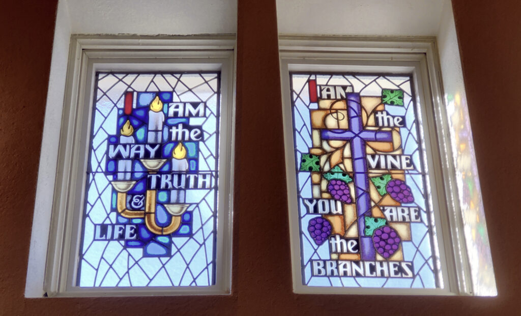 Stained Glass renderings of Jesus' I AM statements from the Gospel of John