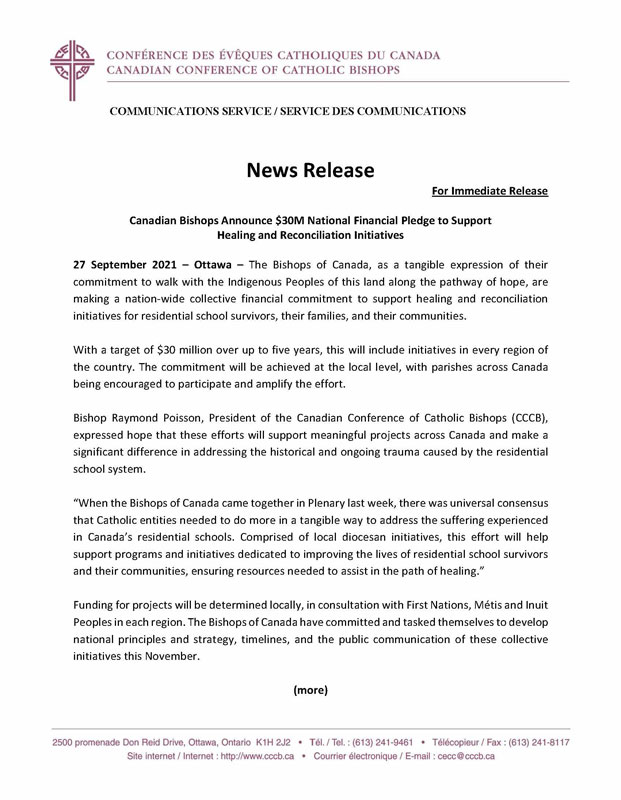 CCCB News Release